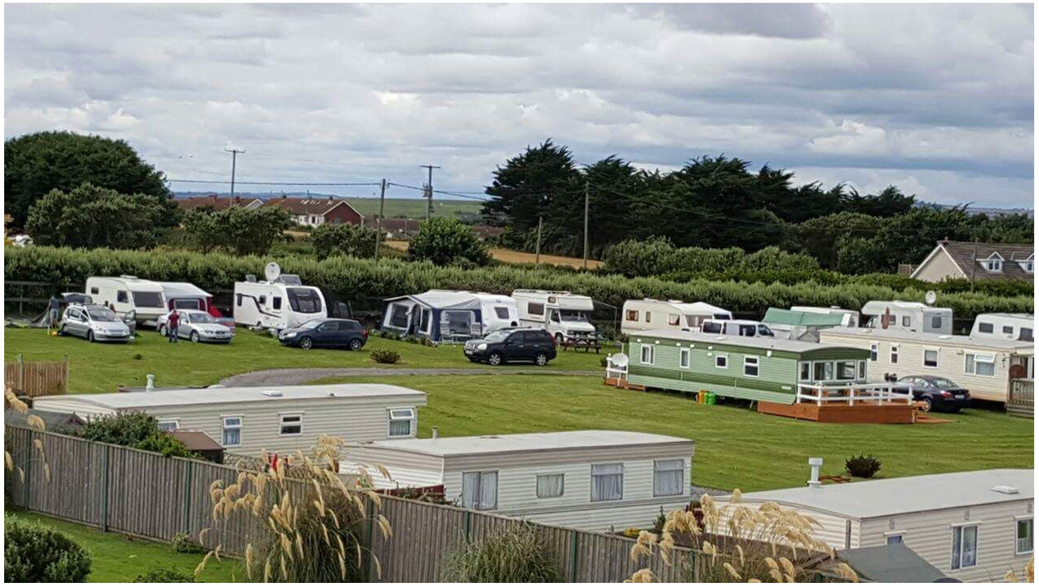 Aerial View Lynders Mobile Home Park, Portrane Donabate, North County Dublin, Fingal