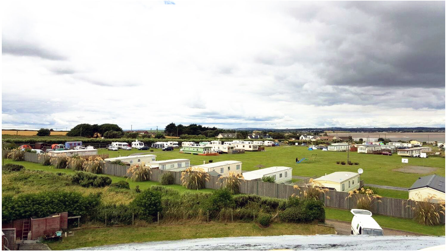 Aerial-View2-Camping, Campervans, Motorhomes - Lynders Mobile Home Park, Portrane:Donabate, North County Dublin, Fingal